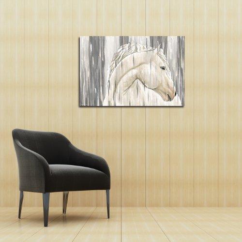 "Maxwell Dickson ""White Horse"" Wall Art Canvas Print Pop Art Modern"