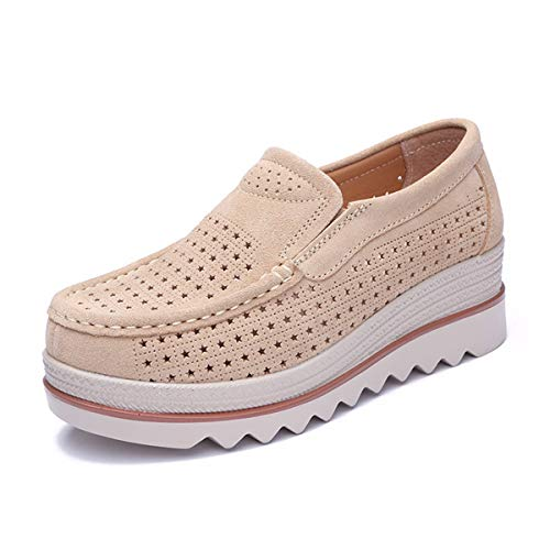 Ventilation Rocking Leisure Leather Summer Hollowing KPHY Thirty Six Shoes Thick Bottom Bottom Gules Thick Shoes Slope Heel xvqqczXUP