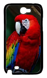 Macaw Polycarbonate Hard Case Cover for Samsung Galaxy Note II N7100¨CBlack