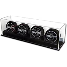 Collectible NHL Size UV Deluxe Acrylic 4 Hockey Puck Display Case Holder
