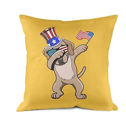 Heart Wolf Labrador Retriever Dabbing Dog Patriotic Throw Pillow Covers 45x45cm Allergy Control Classics Breathable Cushion Cove Retro Anti-fouling Cushion Pillow Cover
