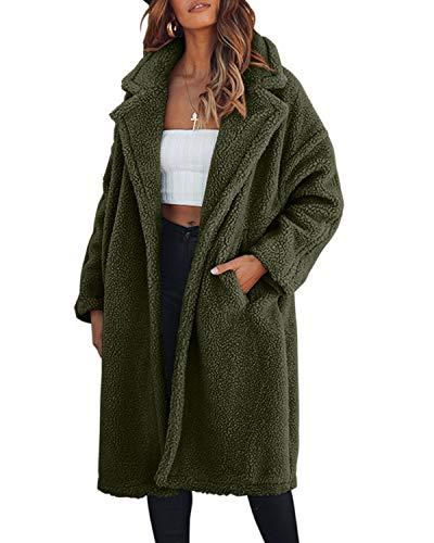 Size Aperto Donna Cappotto Black Da Green color Army Lungo Mallty 2xl Wc6STnPCn