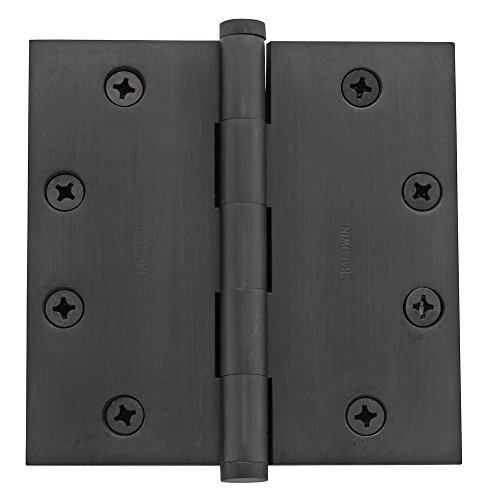 Baldwin 1045102I Square Mortise Hinge, Oil Rubbed Bronze by Baldwin