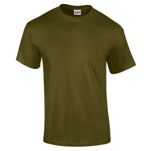 Gildan Ultra Herren T-Shirt (2XL) (Oliv) XXL,Grün