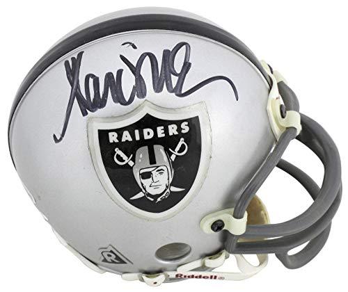 Signed Marcus Allen Mini Helmet - Vintage Replica BAS #H82392 - Beckett Authentication - Autographed NFL Mini - Marcus Allen Helmet Replica