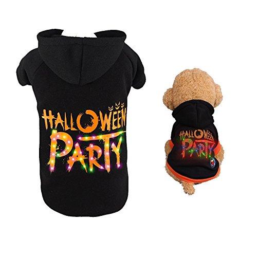 [AnnaEye LED Light up Pet Dog Hoodie Coat Puppy Dog Halloween Christmas Festival Party Costume Clothes Dog Costume Halloween] (Spirit Walker Costume)