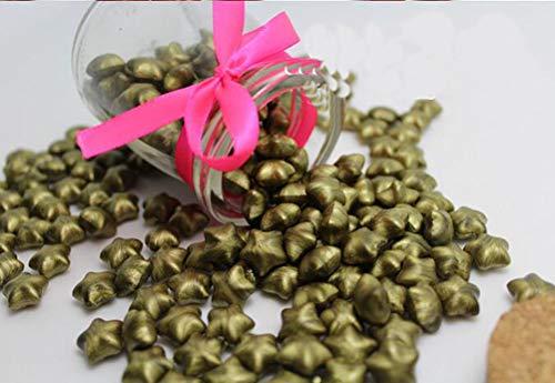 FQL 1 Bottle Of Star Shape Sealing Wax Sticks Beads For Wax Seal Stamp (Green Golden)