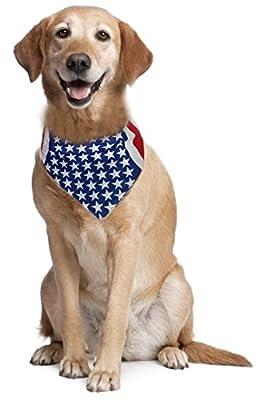 Dog Bandana American Flag USA Headband Bandana Bib for Dogs