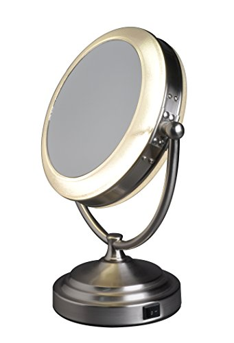 Floxite Daylight Cosmetic Mirror, 8 x Mag (Mag Mirror Satin)