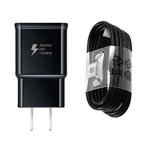 iZopp Adaptive Fast Wall Charger Adapter with USB Type C Cable Compatible Samsung Galaxy S9 S9 Plus S8 S8+ Note 8 Note 9,LG G5 G6 G7 V20 V30 ThinQ Plus and More (Samsung Galaxy Note 8 Vs Samsung Galaxy S8)