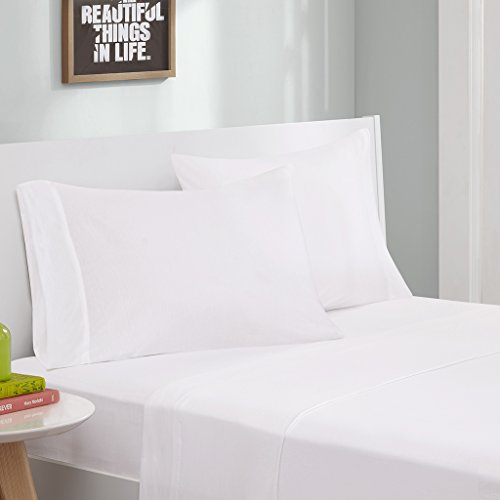 Intelligent Design Cotton Blend Jersey Knit Twin Bed Sheets,