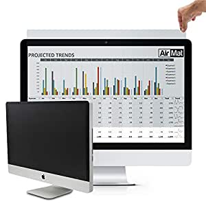 """Computer Privacy Screen Filter for Widescreen Display Monitors by AirMat. Anti Glare Protector Film for Data Confidentiality. Black Black 31.5"""" Widescreen (16:9)"""