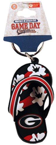 - NCAA Georgia Bulldogs Flip Flop PVC Keychain