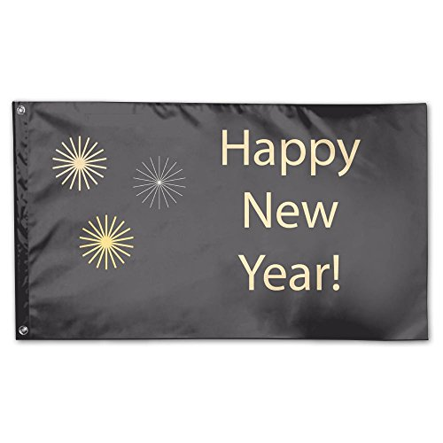 New Year¡¯s Day Deluxe Flag, 3 X 5', Multicolor.