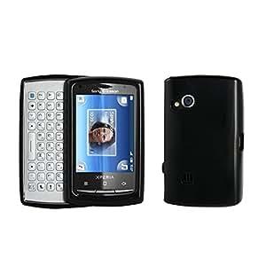 Muvit tpusex 10MP halbsteife funda de plástico y TPU para Sony Ericsson Xperia X10mini pro Negro