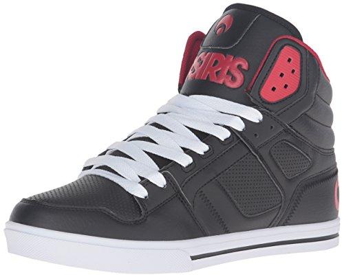 Osiris Männer Clone Skate Schuh Schwarz / Rot / Rot