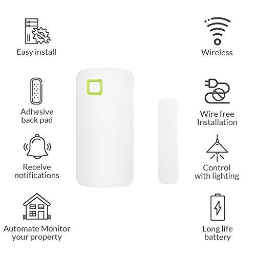 AduroSmart ERIA Smart Door/Window Sensor Works with AduroSmart ERIA/Alexa/Wink/Smart Things/Echo Plu - http://coolthings.us