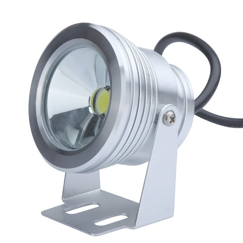10W 12V LED Underwater Light Flood Lamp Waterproof IP65 Fountain Pond Landscape Lighting 1000LM White 6000-6500K Flat Lens by Docooler