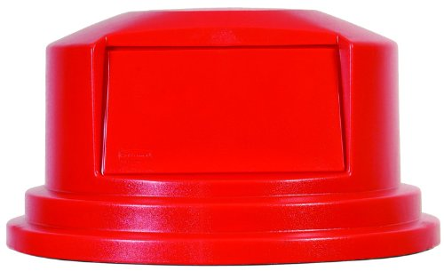 Rubbermaid Commercial FG265788RED Brute HDPE Round Dome Top, Red by Rubbermaid Commercial Products
