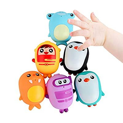 Yamart Bath Toys Set for Kids, Small Spray Fun Bath Toys, Assorted Characters: Toys & Games