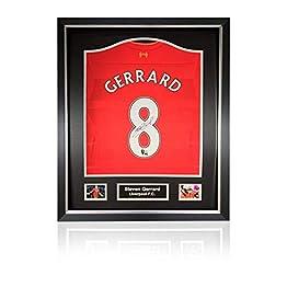 Steven Gerrard Maillot de Liverpool 2016-17 avec Cadre Classique de Luxe.