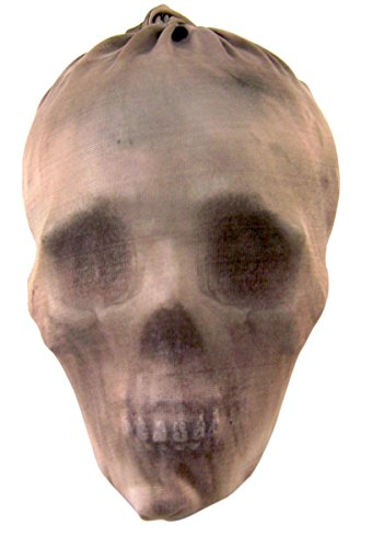 (The Gothic Collection Fabric Wrapped Skeleton Skull Halloween Decoration, 7)