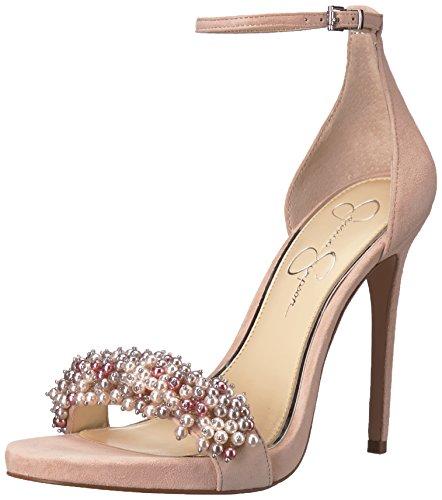 Jessica Simpson Women's Rusley Heeled Sandal, Nude Blush, 7 Medium (Jessica High Heel Sandals)