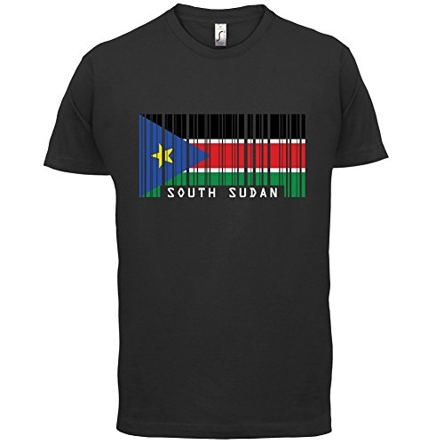 South Sudan / Südsudan Barcode Flagge - Herren T-Shirt - Schwarz - L