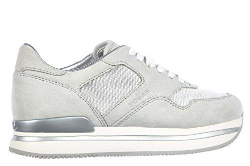 07fc6964bce326 ... Hogan Damenschuhe Turnschuhe Damen Wildleder Schuhe Sneakers h222  allacciato Gra ...
