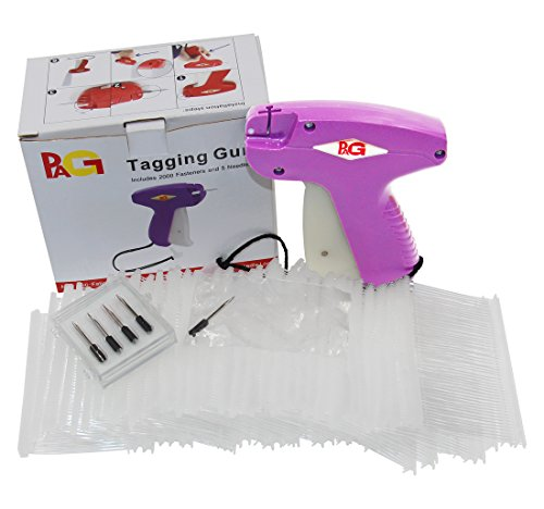 PAG XMS S18 Standard Tagging Gun Price Tag Gun for Clothes with 5 Needls and 2000 2'' Barbs Fasteners by PAG