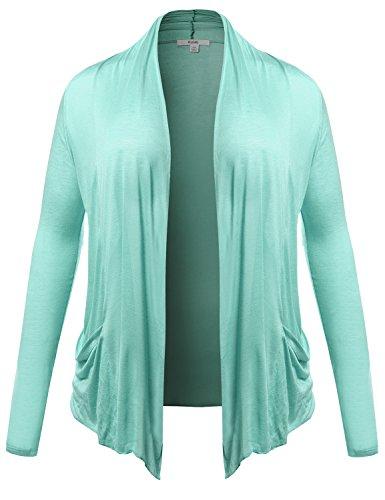 Plus4u Womens Long Sleeve Flyaway Cardigan Plus Size Various Colors