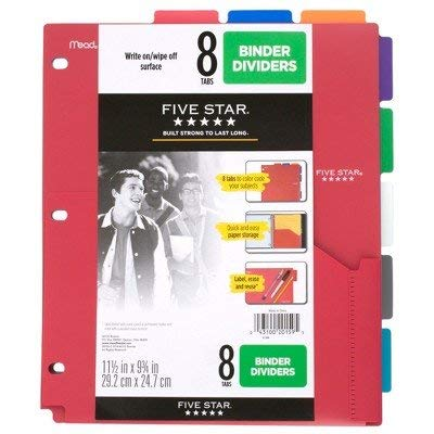 er Dividers with Pocket Multicolor Multi-Colored ()