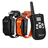 Dularf 2 in 1 100% Waterproof and Rechargeable Dog Shock Collar 330 yd Remote Dog Training Collar with Beep/Vibrating/Shock Electric E-Collar Dog Training Collar for 2 Dogs