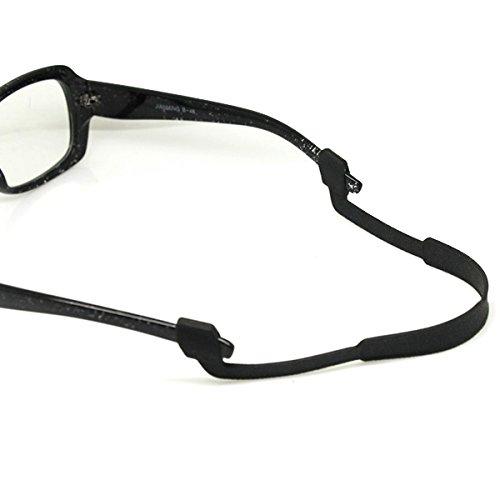 OULII Langlebige Brillen Sonnenbrillen Gläser Anti-Rutsch elastische Silikon Stirnband Gurt Tag Valentinsgeschenk, schwarz 224438MWF9O5475