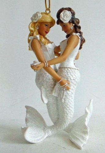 December Diamonds Pearl Girls Lesbians Mermaid Ornament
