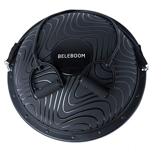 BELEBOOM Balance Trainer Ball for Exercise Elite Yoga Half Ball Balance Training Equipment Home Office Gym Workout Superior Balance Balls(Black)