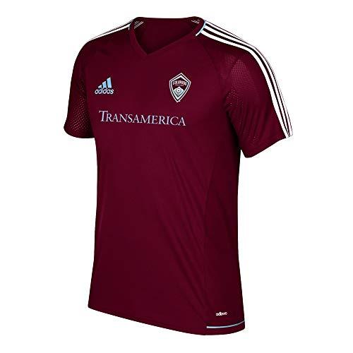 adidas Colorado Rapids MLS Men's Burgundy Climacool Training Jersey (L)