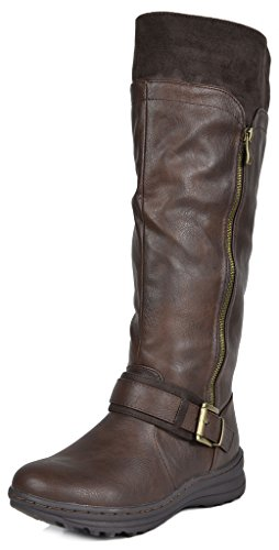 Dream Pairs Women's Siberian Boot, Brown, 9 B US (Womens Casual Winter Boots)