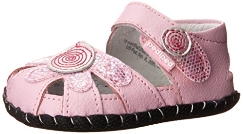 pediped Daisy Originals Dress Sandal (Infant/Toddler),Aster Pink,X-Small (0-6 months) ()