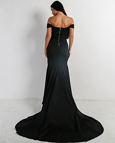 Schwarz Kleid Missord Missord Damen Missord Rückenfrei Schwarz Rückenfrei Damen Kleid wfFpqz