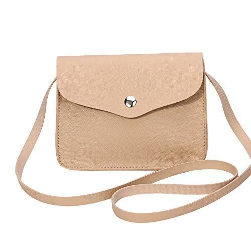 Shoulder Clearance Women Khaki ZOMUSA Bag Leather Mini Handbag Fashion Messenger Crossbody qfTgq0