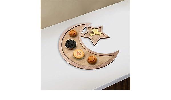 Eid Ramadan Moon & Star - Platos de madera para cena, aptos para ...