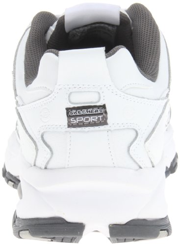 Skechers Sport Men's Vigor 2.0 Serpentine Memory Foam Sneaker,White/Charcoal,10 M US by Skechers (Image #2)