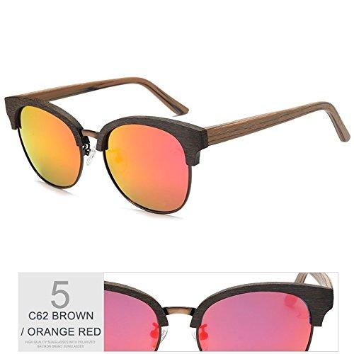 Gafas Gafas Moda Atrás Anti Hecha Uv400 Gafas Polarizadas De De Clásico Trigo En Púrpura Plana TIANLIANG04 RED Mano ORANGE Metal Gafas De Sol pYCHqTp