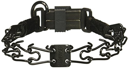 Herm Sprenger 2.25 Dog Pinch CollarBlack Plated Stainless Steel Prong Collar