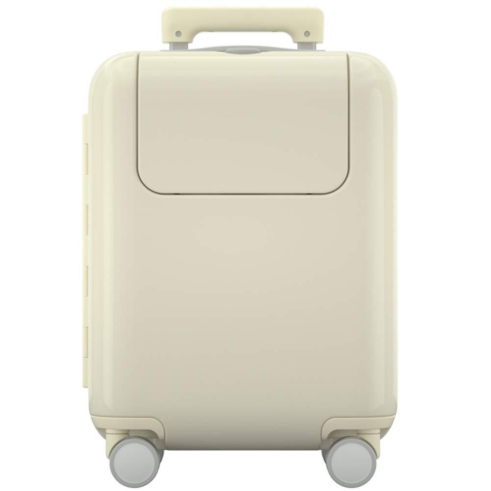 トリノのABS堅い貝の小屋のスーツケース、Ryanairの小屋のために適した4つの車輪の荷物は33 * 42.5 * 22.5cmを袋に入れます ZHANGAIZHEN (色 : 白, サイズ さいず : 33*42.5*22.5cm) 33*42.5*22.5cm 白 B07PM4CKYK