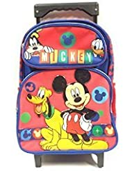 Disney New Mickey Mouse Small Toddler Rolling Backpack(2281) by