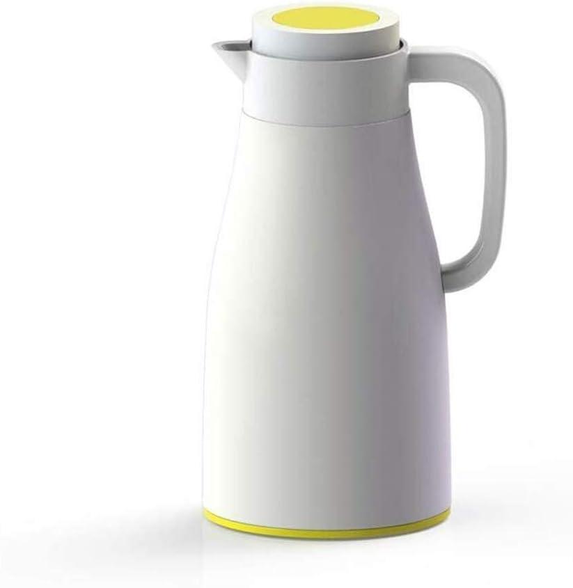 断熱ポットホーム屋外オフィスシンプルな大容量ケトルポット新しい魔法瓶コーヒーカラフ (Color : Beige)