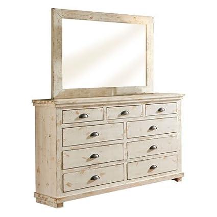 Merveilleux Progressive Furniture Willow Distressed Drawer Dresser, 66u0026quot; ...