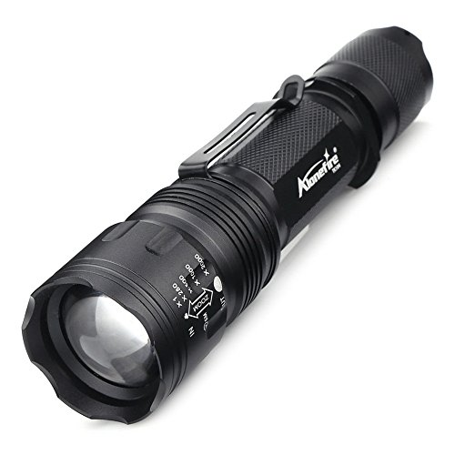 Alonfire Flashlight Led Tactical Flashlights Insight with Belt Clip Pressure Switch High Power XML2 Aluminum Defensive Survival Safe for Sports Outdoors Camping Hiking Home Traveling Emergency Car